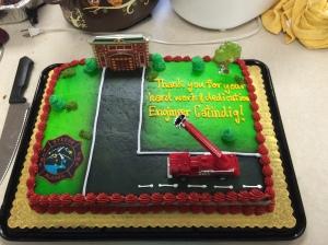 Engineer Catindig's going away cake.