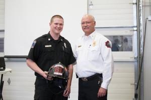 Engineer/EMT Zachary Hughes & Chief Mitch Flynn